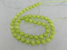 1 16 inch Strand Malaysian Jade Light Green Beads Approx 50  Beads 8mm