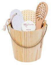 BRUBAKER Sauna Bath Spa Wooden Bucket Wellness Set 4.7 Inches Height 5 Pieces