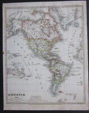 1841ca AMERICA original map Meyer Lexicon United States Canada South America