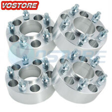 (4) 2'' 5 Lug Hubcentric Wheel Spacers Adapters 5x4.75 for Chevy GMC Cadillac