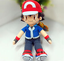 Pokemon Pocket Monster Ash Ketchum Stuffed Plush Toy Doll