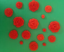 12 x Edible sugar rose flower cupcake cake toppers, decorations, wedding