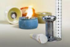 Dochthalter Schmelzlicht Kerzen Wachs Reste Feuer Glasfaser Lampen Docht 7,5 cm
