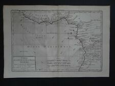 1780 BONNE  Atlas map GULF of GUINEA - CONGO - Guinee - WEST AFRICA