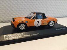 Porsche 914/6 Monte Carlo Rally 1971 1:43 Minichamps neu & OVP 400716507