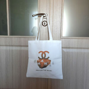 CHANEL Beaute Ask For The Moon VIP GIFT 2021 NEW White Shopper Tote Bag