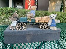 Vintage Used Steiff Bear Driving A Delivery Truck Rare