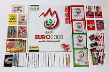 Panini Euro 2008 loose sticker set + Swiss album + packets + extra stickers MINT