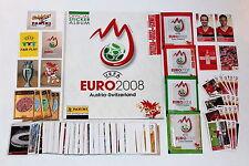 PANINI EURO 2008 Loose Adesivo Set + ALBUM Svizzera + pacchetti + EXTRA ADESIVI Nuovo di zecca