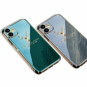 2020 Deer Pattern Camera All Inclusive Electroplating Process Soft Iphone Case
