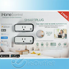 IHOME SMARTPLUG WiFi ALEXA NEST HOMEKIT APP CONTROLLED SMART PLUG OUTLET 2-PACK