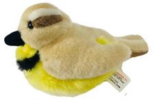 "K&M Toys Bird Plush Stuffed Animal Yellow Tan Black 5"""