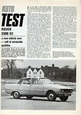 Rover 2000 SC Series 2 Road Test 1973 UK Market Foldout Sales Brochure Autocar