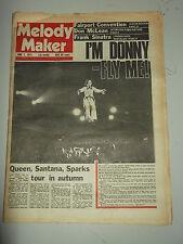 MELODY MAKER 1975 JUNE 7 DON MCLEAN FRANK SINATRA DONNY OSMOND QUEEN SANTANA