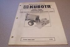 Kubota Owners Manual G2500, G2505 Snowblower
