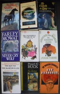 Vintage Lot of 9 Classic Paperback Novels by 9 Best selling Authors.