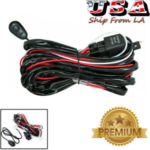 8ft 40A 12V Power ON/OFF Switch Relay Wiring Harness For Offroad LED Light Bar