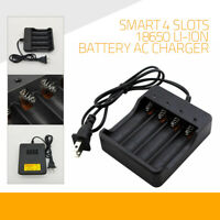 Smart 4 Slots 1.2A 18650 Li-ion Battery AC Charger Rechargeable LED Indicator US