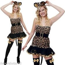 "Ladies Sexy Leopard Print Cat Costume size 10 12 Stretch up to 36"" Bust"