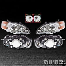 2006-2007 Subaru Legacy Outback Headlight Lamp Clear lens Halogen LH RH Pair