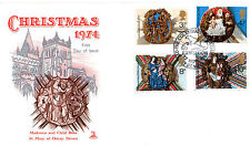 27 NOVEMBER 1974 CHRISTMAS MERCURY FIRST DAY COVER OTTERY ST MARY SHS