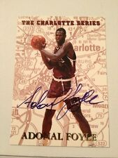 Adonal Foyle #mp3 990/5000 The Charlotte Series Great Comdition Auto Sku1