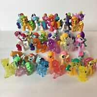 Lot of 37 MLP My Little Pony Mixed Mini Figures Blind Bag Glitters Clears