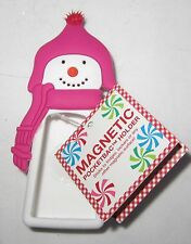 Bath & and Body Works Magnetic Snowman Pink Hat White Girl PocketBac Holder