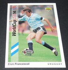 FRANCESCOLI CAGLIARI URUGUAY FOOTBALL CARD UPPER DECK USA 94 PANINI 1994 WM94