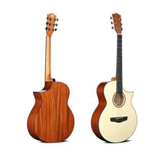 "'Deviser' L-620 Sapele 40"" Acoustic Guitar | Florentine Cutaway, Steel Stringed!"
