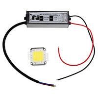 3X(AMPOULE LAMPE LED BLANC 50W 30V-36V 5000LM + ALIMENTATION M5J2) SC