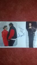 Autogramme von Esther Williams & Edward Bell,mit 2 Farb-Magazinbilder, Din A4