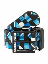 NEW* QUIKSILVER SURF BELT VEGAN MENS L 36 Filter Blue Black White