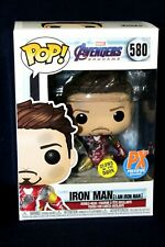 Funko POP Avengers #580 Iron Man Glows in Dark Figure PX Exclusive Box Defects