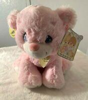 Precious Moments pink baby rattle teddy bear Plush stuffed animal Charlie