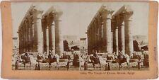 Egypte.Egypt.Karnak.Temple de Khunsu.Khonsou.Photo Stereo stereoview Citrate.