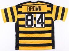 Antonio Brown SIGNED #84 PITTSBURGH STEELERS throwback jersey w/TSE COA- XL
