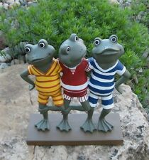 Folk Art Dancing FROG STATUE*Primitive/French Country/Lake Cabin House Decor