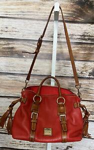 Dooney & Bourke Florentine Leather Satchel Bag Purse Red