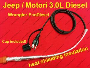 2014-2019 JEEP 3.0L DIESEL ENGINE BLOCK HEATER CORD WRANGLER Motori 3.0L