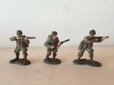 Britains 1999 - 3 US Army Soldiers WWII (Metal - hand painted)