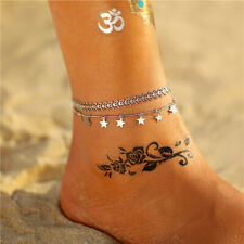 Women's Jewelry Foot Star Stainless Steel Chain Anklets Bracelet Barefoot