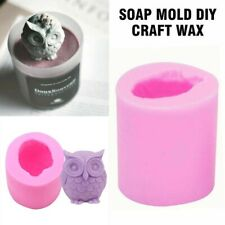 Silicone Soap Craft Owl Bird 3D New Resin Mould DIY Wax Art Mold Candle Molds