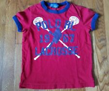 Polo by Ralph Lauren Boys 4T Lacrosse Short Sleeve Shirt Top Red