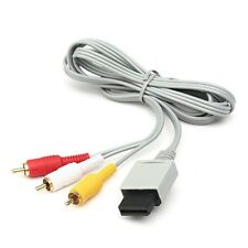 Gray Component 3-RCA AV Cable HDAV Audio Video Cable Cord For Nintendo Wii 1.8M