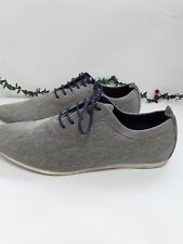 Mens Zara Shoes Canvas Boots Grey Lace Pumps Casual Size Euro42 Uk 8
