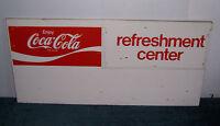 "COCA-COLA REFRESHMENT CENTER MENU BOARD METAL ADVERTISING SIGN 45 1/2"" X 21 3/16"
