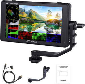 Feelworld LUT6 6 Inch 2600nits HDR/3D LUT Touch Screen DSLR Camera Field Monitor