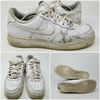 Nike Air Force One White Leather Running Tennis Shoes Sneaker Mens Size 11