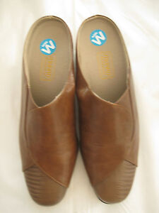 MUNRO AMERICAN MULES BROWN SIZE 9 W-NEW-AUTHENTIC-MSRP $169.95